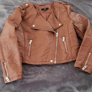 H&M cropped moto jacket